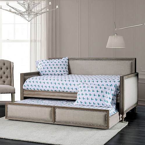 AUDRINA Imprad Beige Daybed w/ Trundle