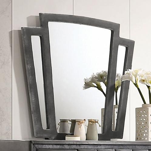 CARISSA Imprad Transitional Gray Velvet Mirror