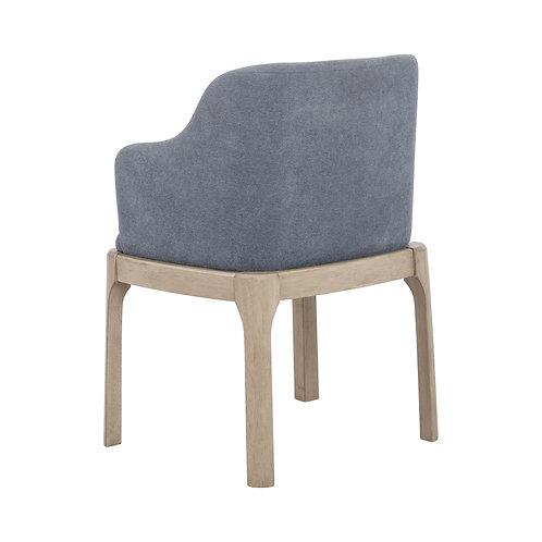 Artas Cali Upholstered Arm Chairs Denim Blue