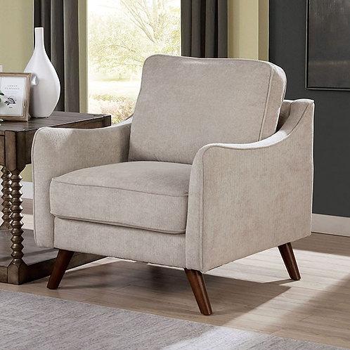 MAXIME Imprad Light Gray Chenille Chair