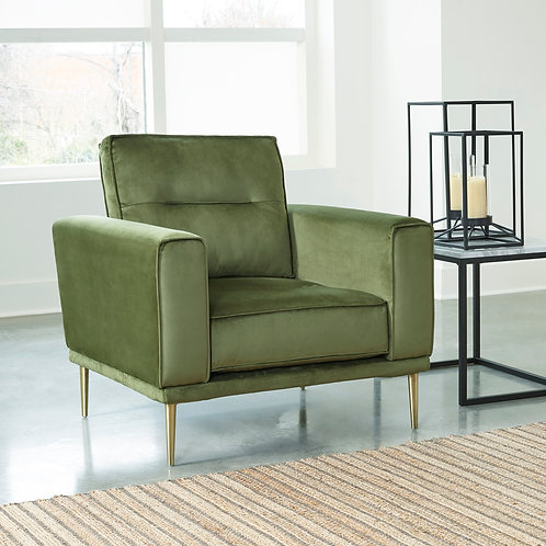 Macleary Angel Green Velvet Chair (Gold Legs)