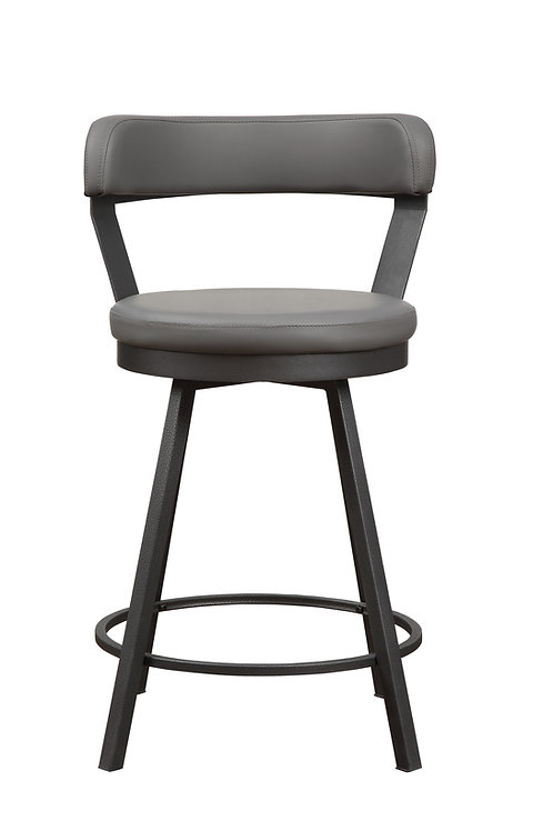Appert Henry Swivel Pub Height Chair, Gray 29-in