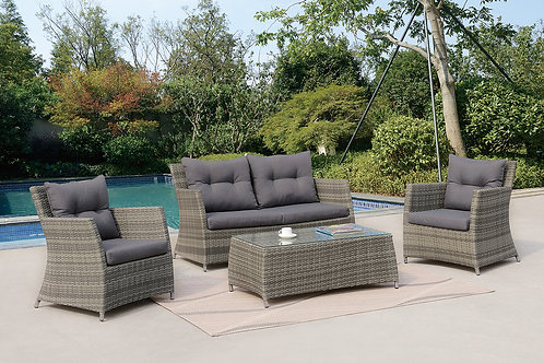 50291 Port 4pc Patio Set (Loveseat, 2 Chairs, Cocktail Table)