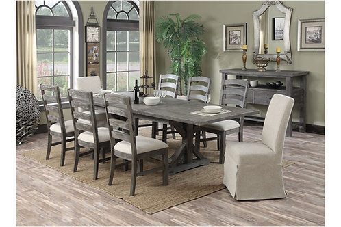 Emeral Paladin Rustic Charcoal Dining Table
