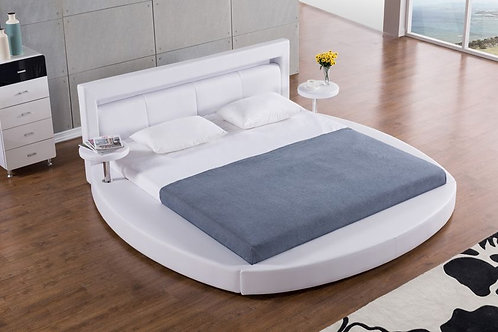 029 AE White Round Bed