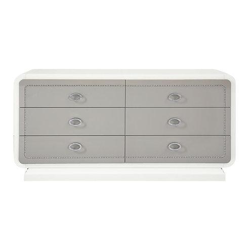 Alendale All High Gloss White Dresser