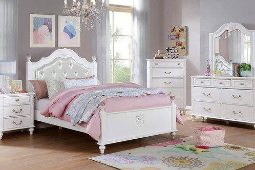 BELVA Imprad White Bed