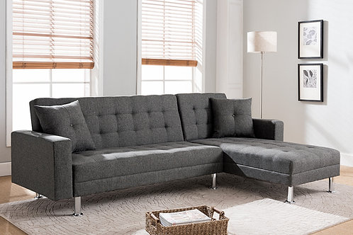 8056 Milt Reversible Click-Clack Gray Sectional