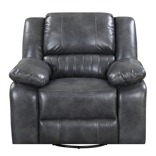 Emeral Navaro Motion Gray Leather Reclining Chair