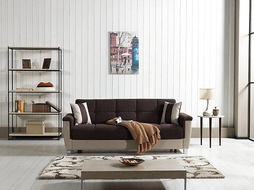 Diva Polaris Click-Clack Sleeper Sofa – Chocolate Fabric