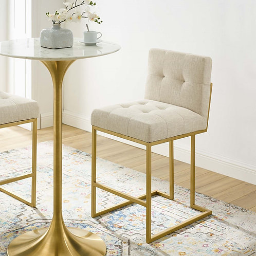Privy Mod Counter Stool in Gold Beige