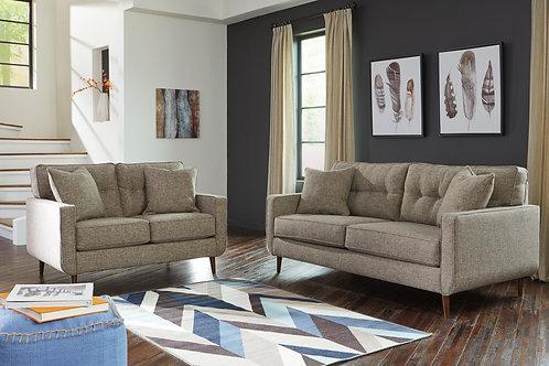 Dahra Angel Chenille Mid-Century Sofa