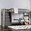 Thumbnail: AMPELIOS Imprad Twin/Twin Rustic Gray Bunk Bed