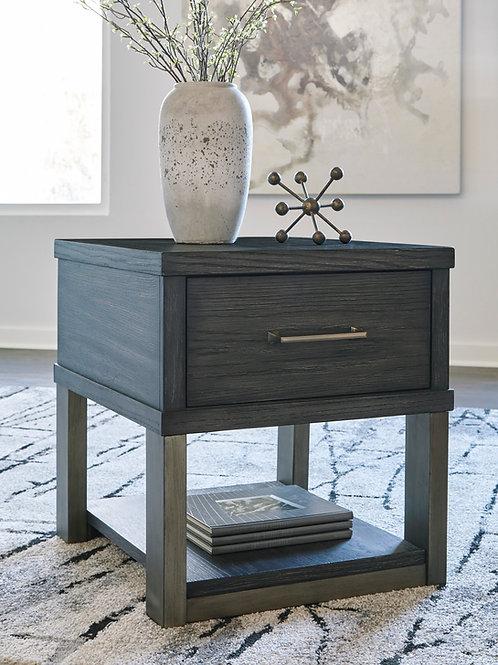Forleeza Angel Dark Grey Rectangular End Table
