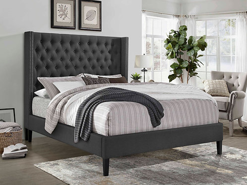7536 Mg Platform Bed Dark Gray