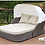 Thumbnail: AIDA Imprad Gray Wicker Contemporary Patio Canopy Daybed
