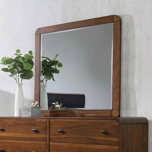 Cali Robyn Mid-Century Dark Walnut Mirror