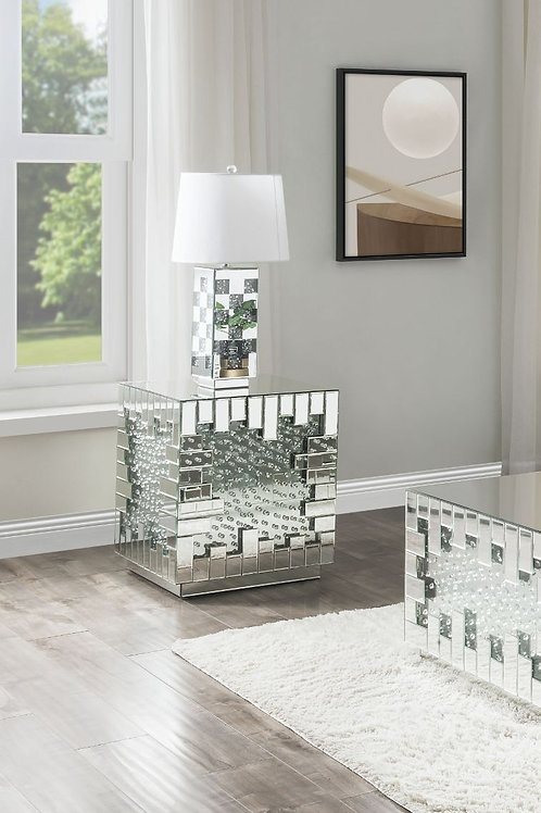 All Nysa 88047 Mirrored Glam End Table