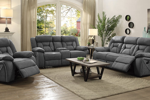 Higgins Cali Pillow Top Arm Upholstered Motion Sofa Grey