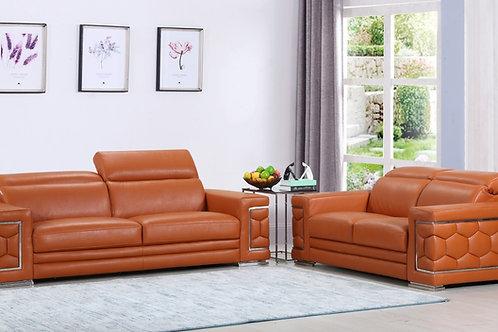 692 Geo Camel Italian Leather Sofa