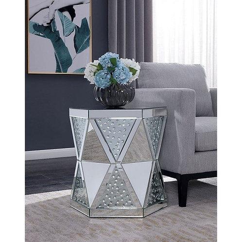 LESEDI Imprad Glam Mirrored End Table