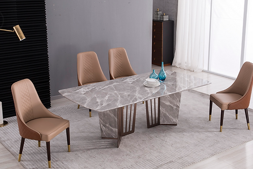 309 AE Faux Marble Dining Table