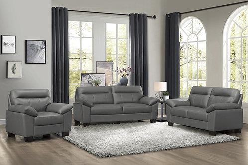 Denizen Henry Dark Gray Leather Sofa Modern