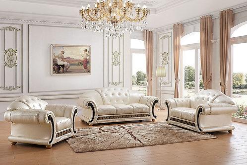 Apolo Pearl Classic Shiny Crocodile Embossed Leather Sofa
