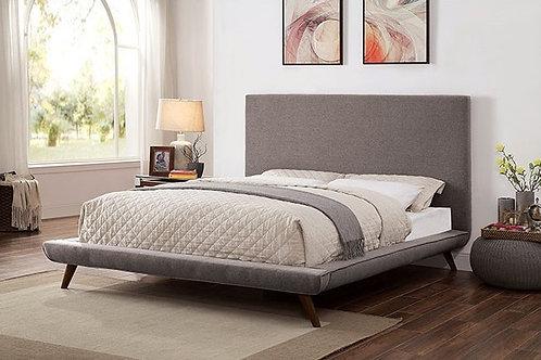 Shawn Imprad Platform Gray Mid-Century Bed