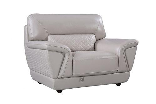 099 AE Light Gray Italian Leather Chair