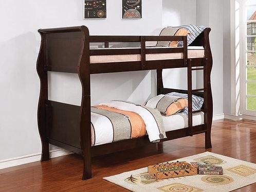 Benson Cali Twin/Twin Cappuccino Bunk Bed