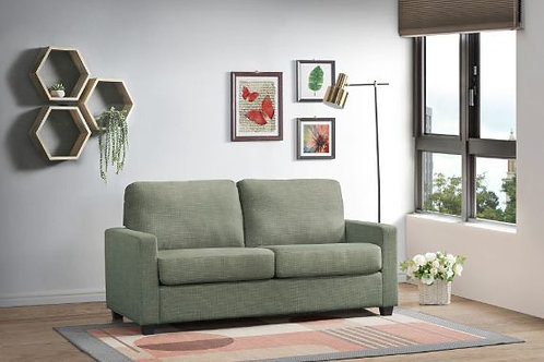 All ZENAS 57220 Light Green Fabric Sleeper Sofa