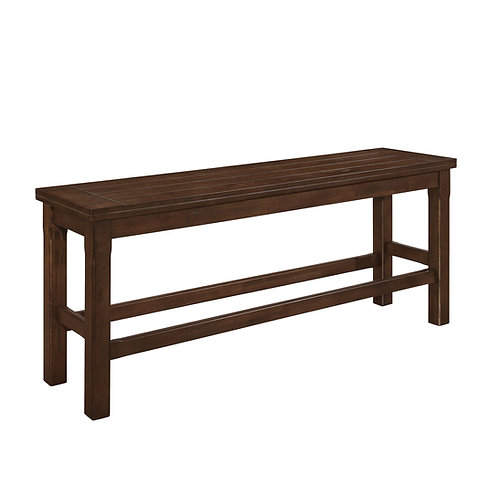 Schleiger Henry Brown Counter Height Bench