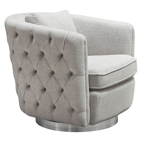Bentley Dream Light Grey Fabric Chair