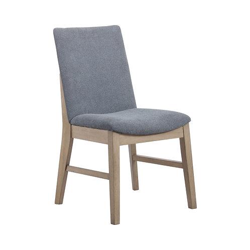 Artas Cali Upholstered Side Chairs Denim Blue