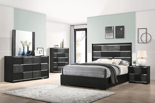 Blacktoft Cali Panel Bed Black