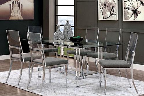 CASPER Imprad Contemporary Acrylic Glass Dining Table