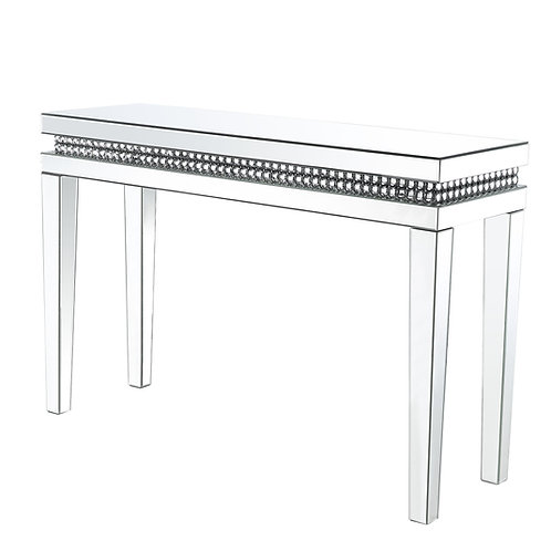 All  Lotus Sofa Table - 88053 - Glam - Mirror, Faux Crystals