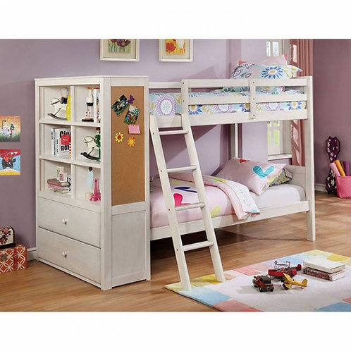 ATHENA Imprad Twin/Twin White Bunk Bed