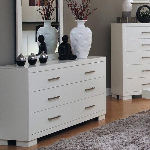 Jessica Cali Modern 6-drawer White Dresser