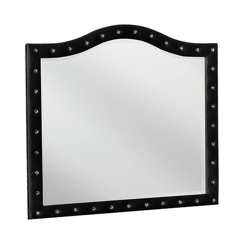 Deanna Cali Button Tufted Mirror Black