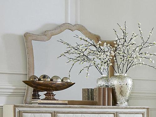 Antonella Cali Ivory & Camel Velvet Mirror