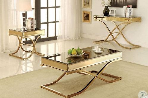SUNDANCE Imprad Mirrored Bass Metal Coffee Table