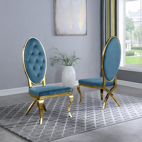Best Q SC58 Velvet Teal/Gold Chair