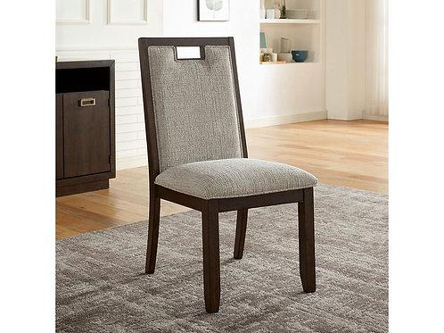 CATERINA Imprad Transitional Dark Walnut/Beige Fabric Side Chair