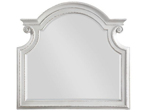 All Florian Antique Washed White Mirror