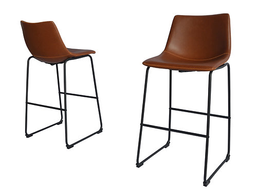 Best BS27 Bronze Faux Leather Barstool