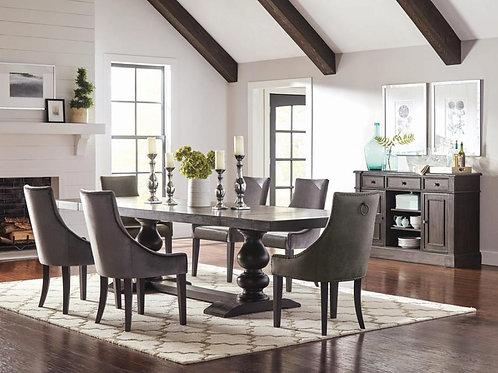 Phelps Cali Antique Noir Dining Table