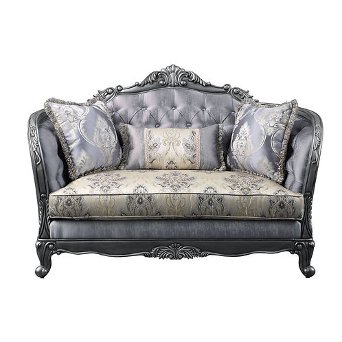 All Ariadne Traditional Fabric and Platinum Loveseat