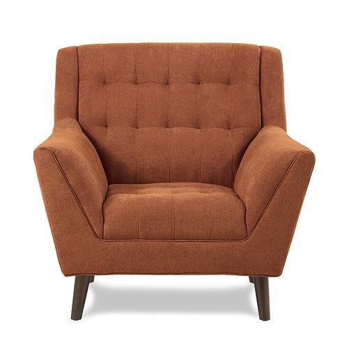 Erath Henry Mid-Century Modern Orange Chair
